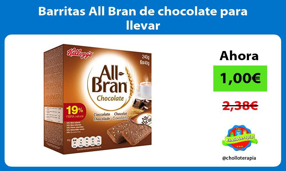 Barritas All Bran de chocolate para llevar