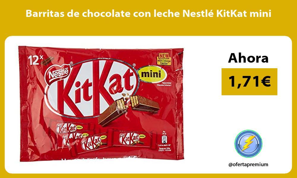 Barritas de chocolate con leche Nestlé KitKat mini