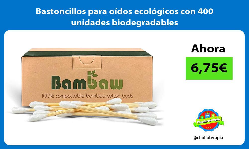 Bastoncillos para oídos ecológicos con 400 unidades biodegradables