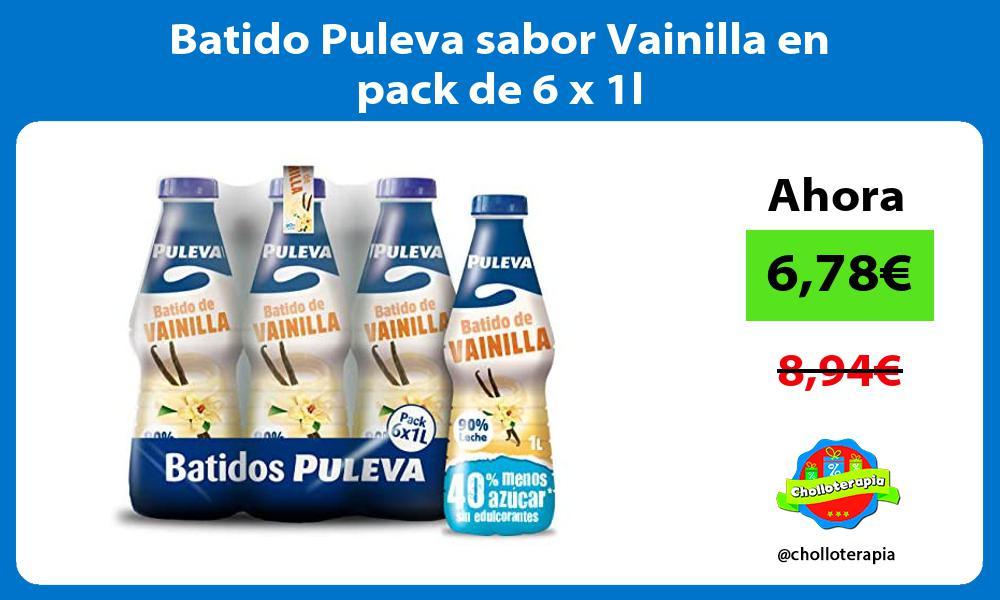 Batido Puleva sabor Vainilla en pack de 6 x 1l