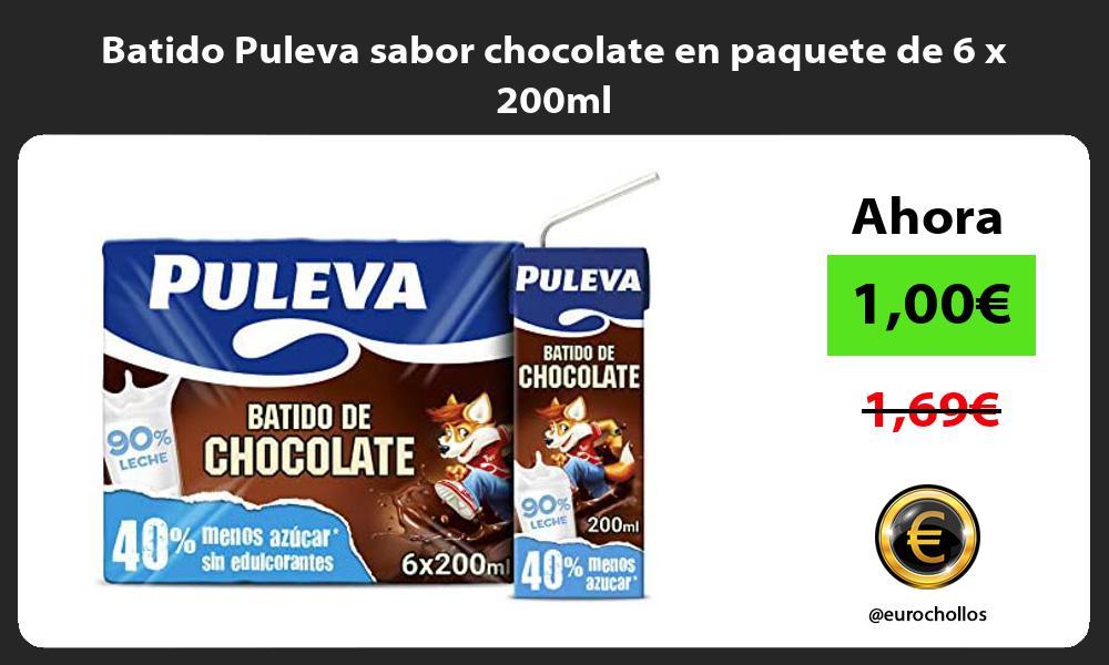 Batido Puleva sabor chocolate en paquete de 6 x 200ml