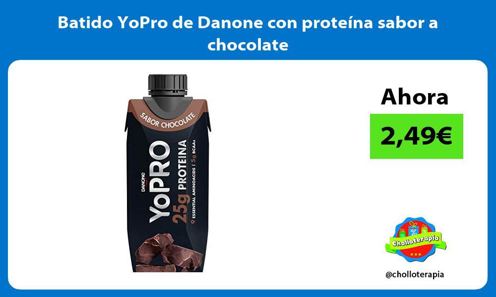 Batido YoPro de Danone con proteína sabor a chocolate