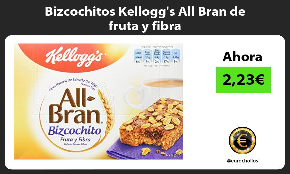 Bizcochitos Kelloggs All Bran de fruta y fibra