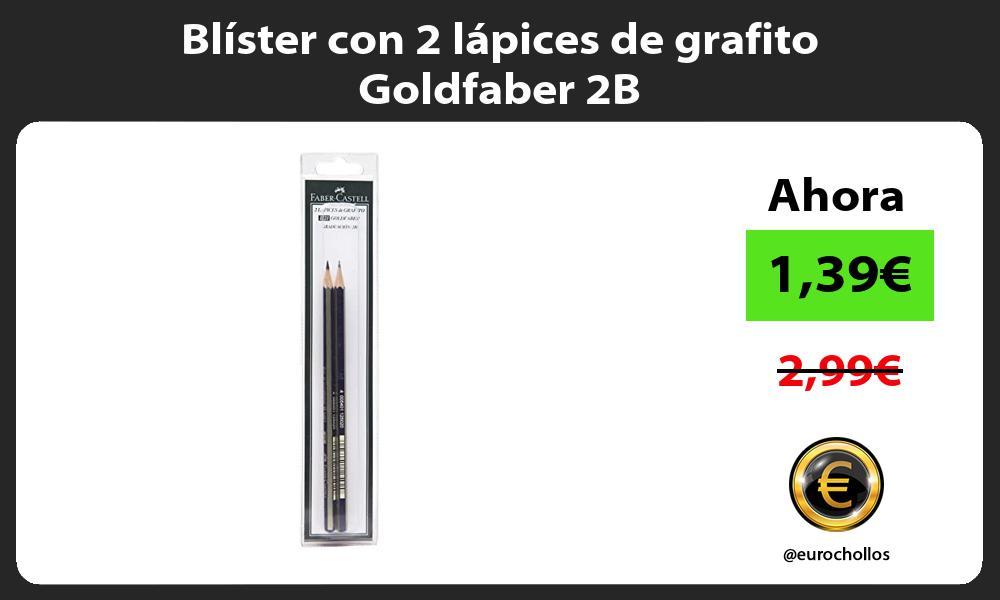 Blíster con 2 lápices de grafito Goldfaber 2B