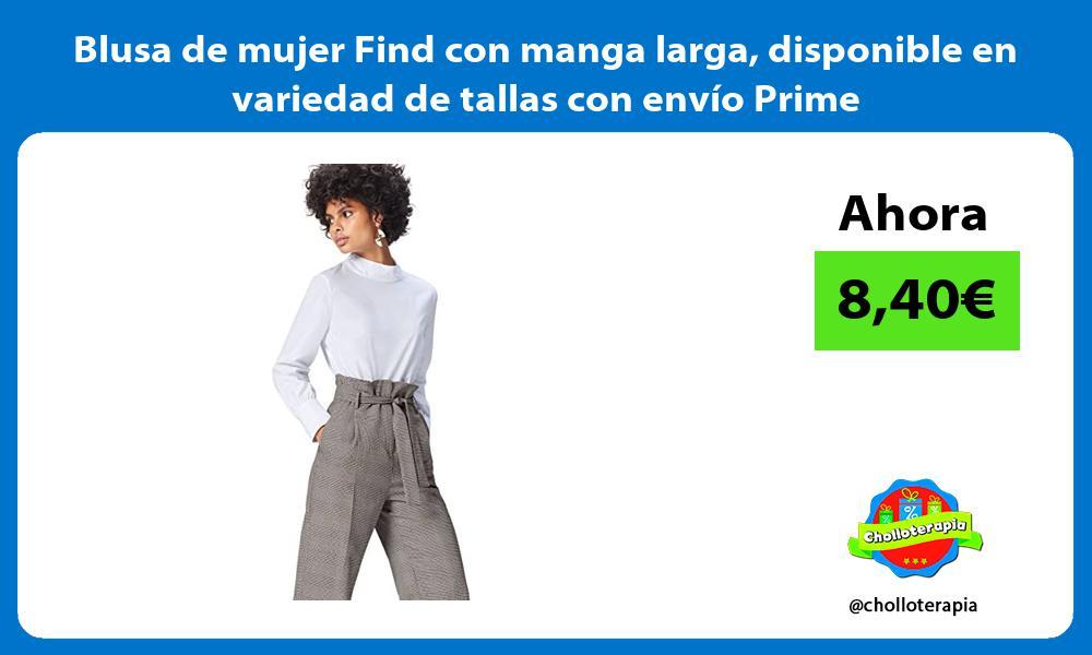 Blusa de mujer Find con manga larga disponible en variedad de tallas con envío Prime