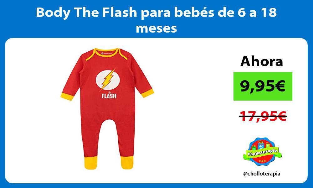 Body The Flash para bebés de 6 a 18 meses