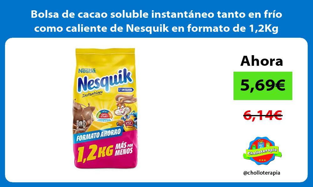Bolsa de cacao soluble instantáneo tanto en frío como caliente de Nesquik en formato de 12Kg