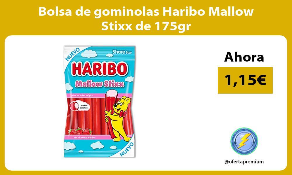 Bolsa de gominolas Haribo Mallow Stixx de 175gr