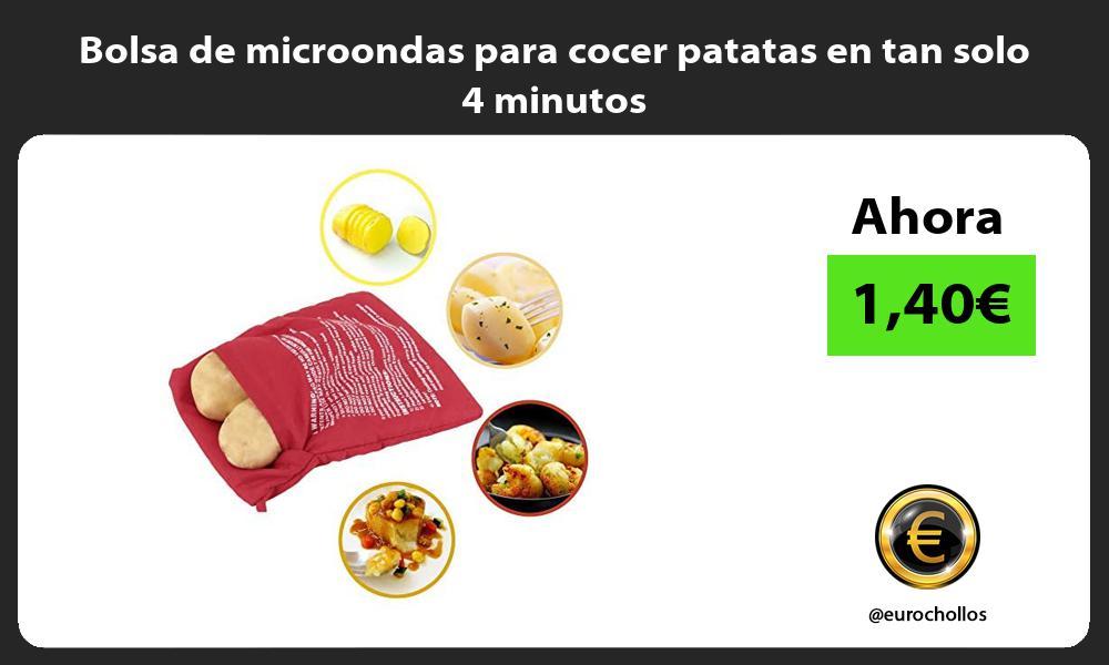 Bolsa de microondas para cocer patatas en tan solo 4 minutos