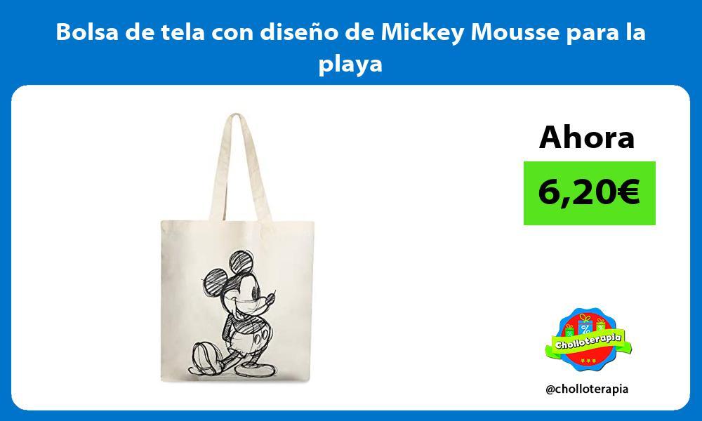 Bolsa de tela con diseño de Mickey Mousse para la playa