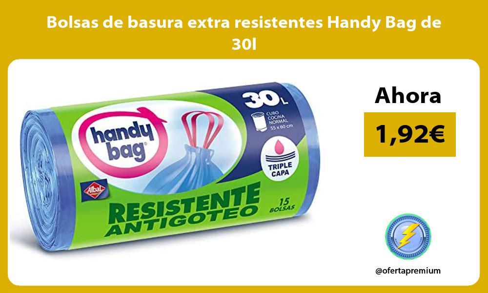 Bolsas de basura extra resistentes Handy Bag de 30l