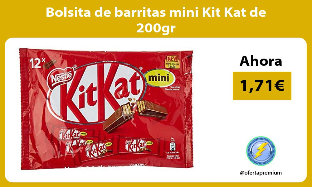 Bolsita de barritas mini Kit Kat de 200gr