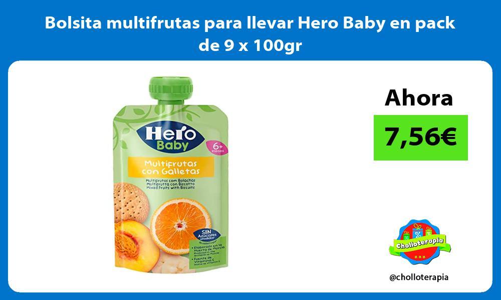 Bolsita multifrutas para llevar Hero Baby en pack de 9 x 100gr