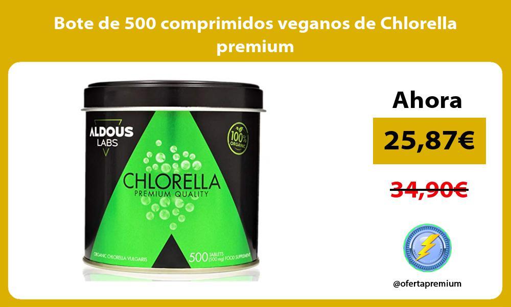 Bote de 500 comprimidos veganos de Chlorella premium