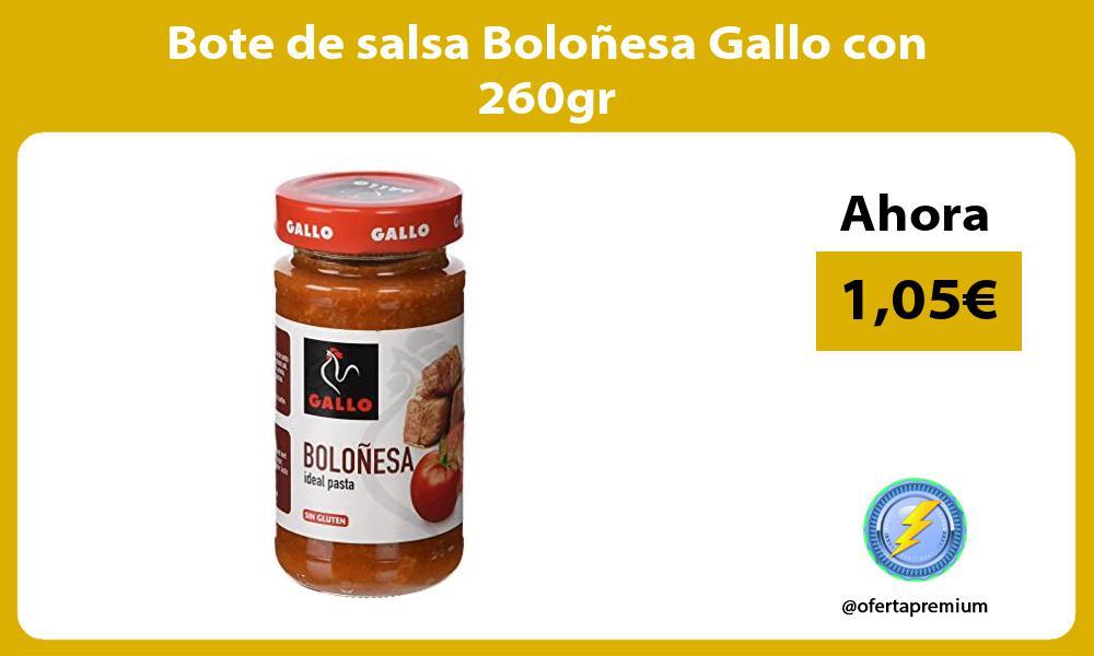 Bote de salsa Boloñesa Gallo con 260gr