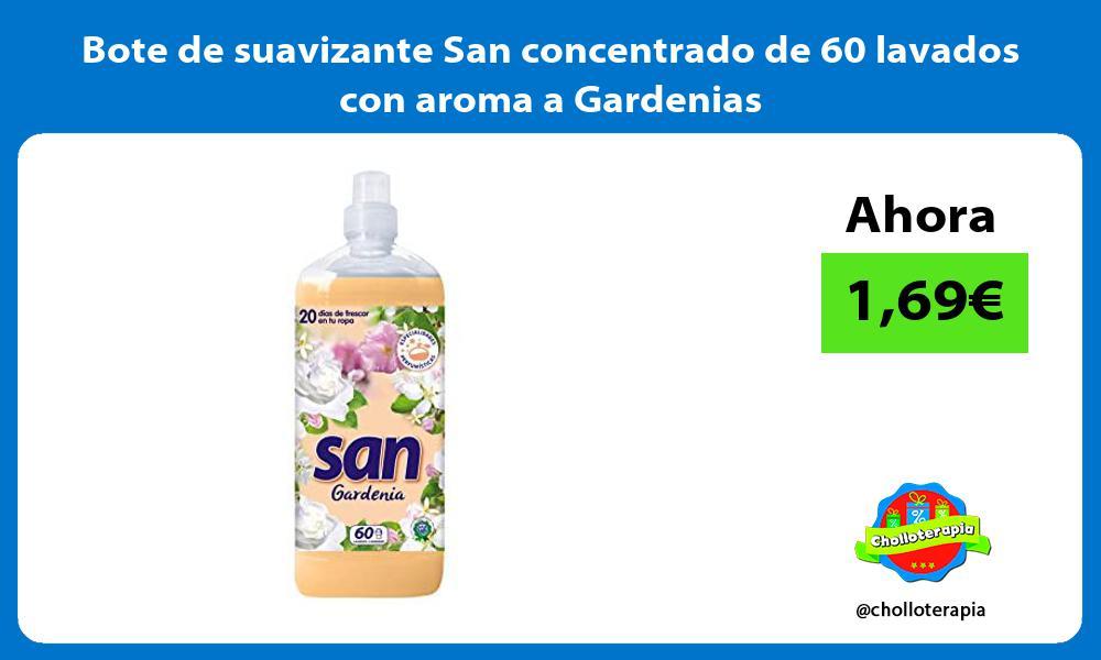 Bote de suavizante San concentrado de 60 lavados con aroma a Gardenias