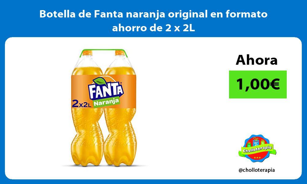Botella de Fanta naranja original en formato ahorro de 2 x 2L