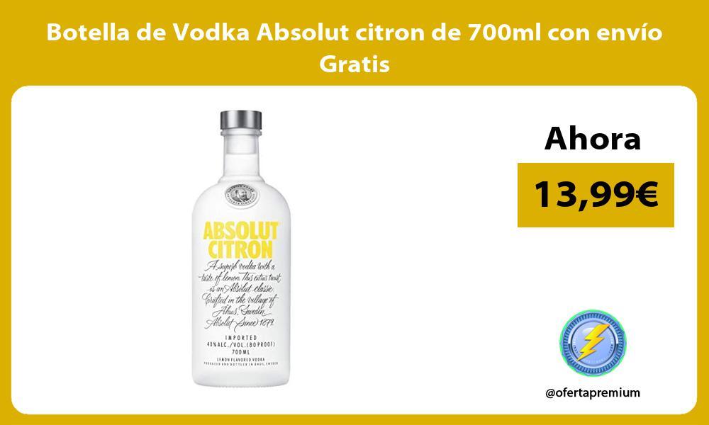 Botella de Vodka Absolut citron de 700ml con envío Gratis