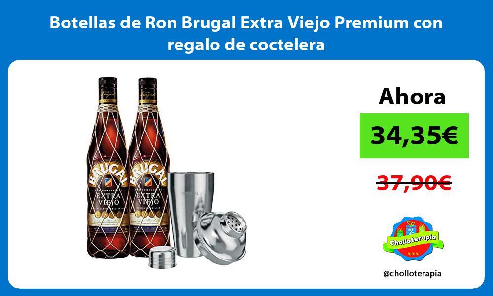 Botellas de Ron Brugal Extra Viejo Premium con regalo de coctelera