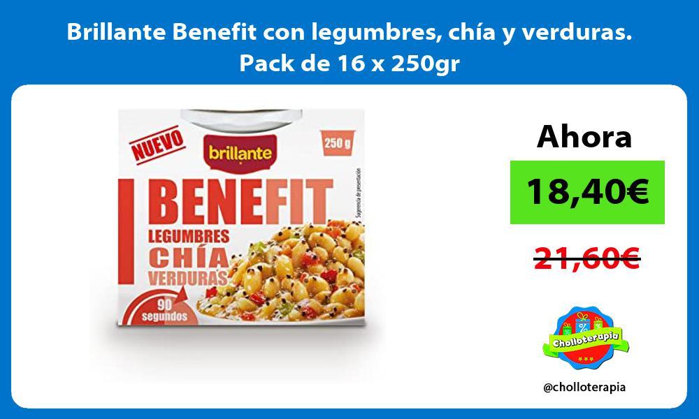 Brillante Benefit con legumbres chía y verduras Pack de 16 x 250gr