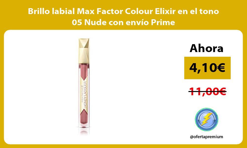Brillo labial Max Factor Colour Elixir en el tono 05 Nude con envío Prime