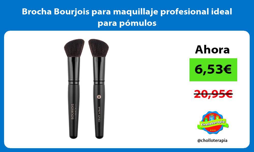Brocha Bourjois para maquillaje profesional ideal para pómulos