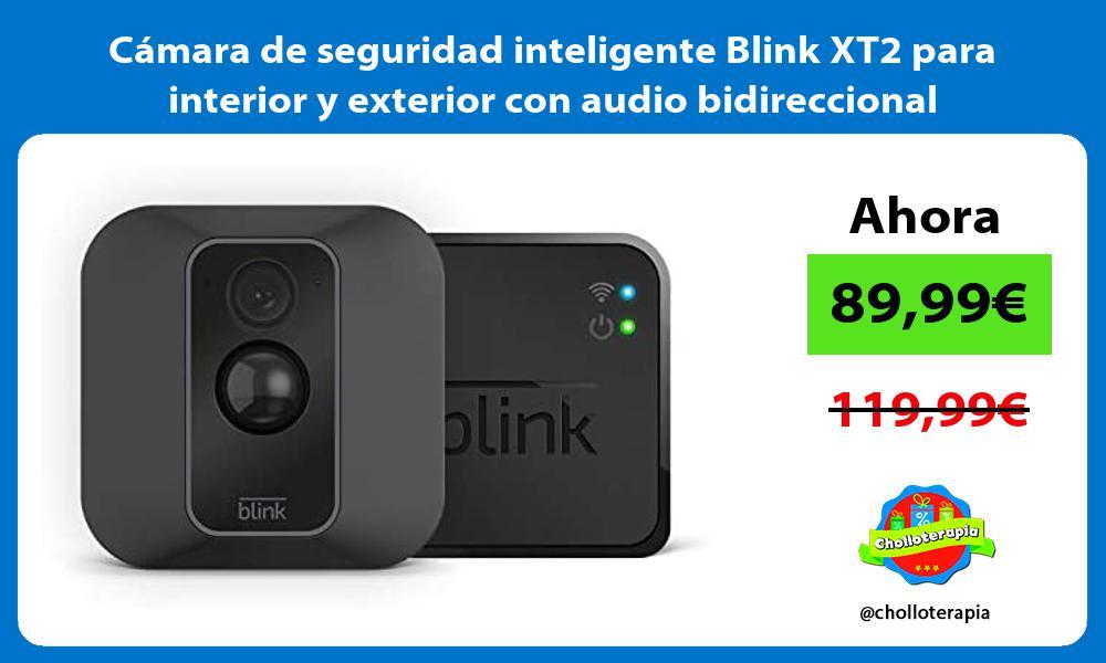 Cámara de seguridad inteligente Blink XT2 para interior y exterior con audio bidireccional