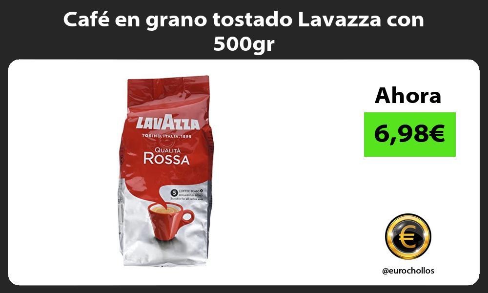 Café en grano tostado Lavazza con 500gr