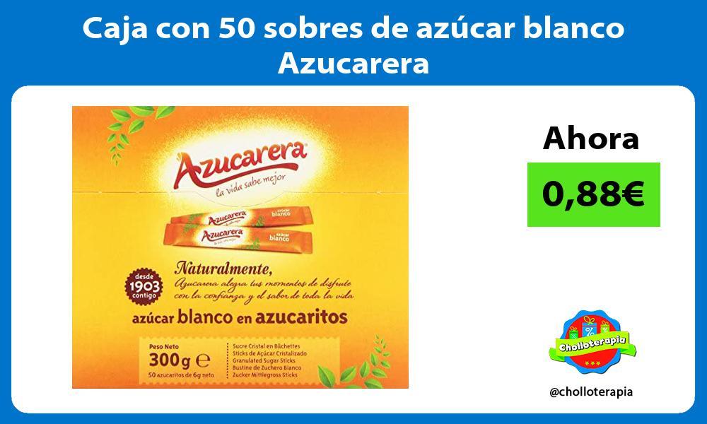 Caja con 50 sobres de azúcar blanco Azucarera