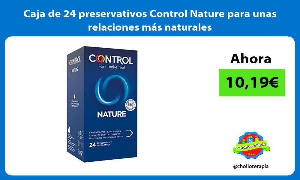 Caja de 24 preservativos Control Nature para unas relaciones más naturales