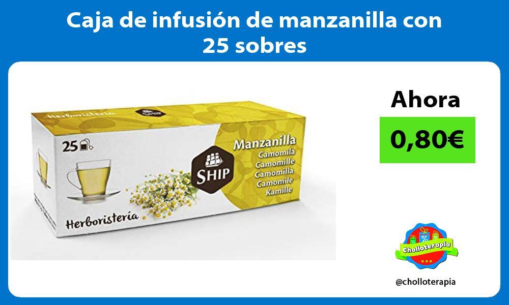 Caja de infusión de manzanilla con 25 sobres
