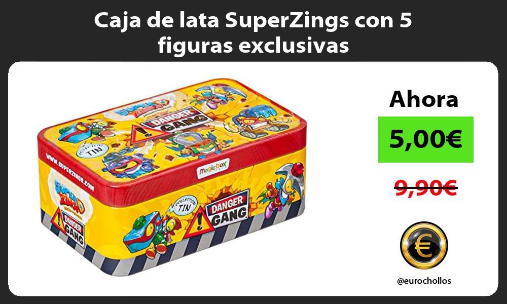 Caja de lata SuperZings con 5 figuras exclusivas