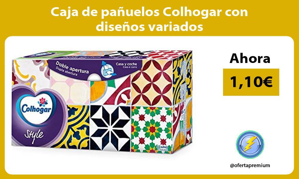 Caja de pañuelos Colhogar con diseños variados