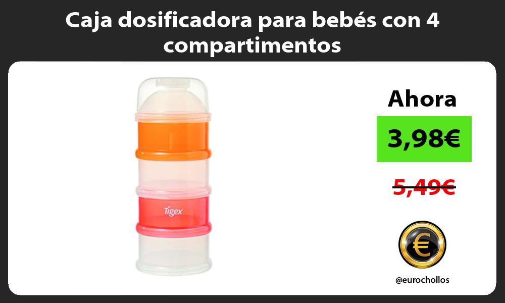 Caja dosificadora para bebés con 4 compartimentos