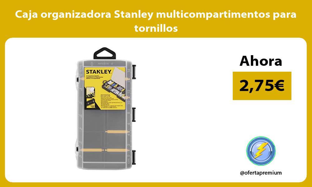 Caja organizadora Stanley multicompartimentos para tornillos