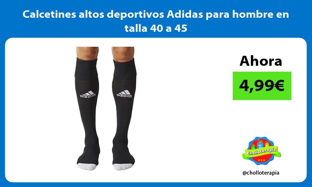 Calcetines altos deportivos Adidas para hombre en talla 40 a 45