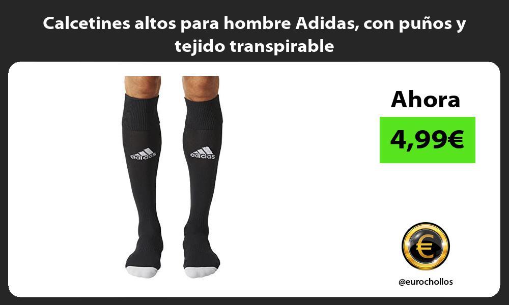 Calcetines altos para hombre Adidas con puños y tejido transpirable