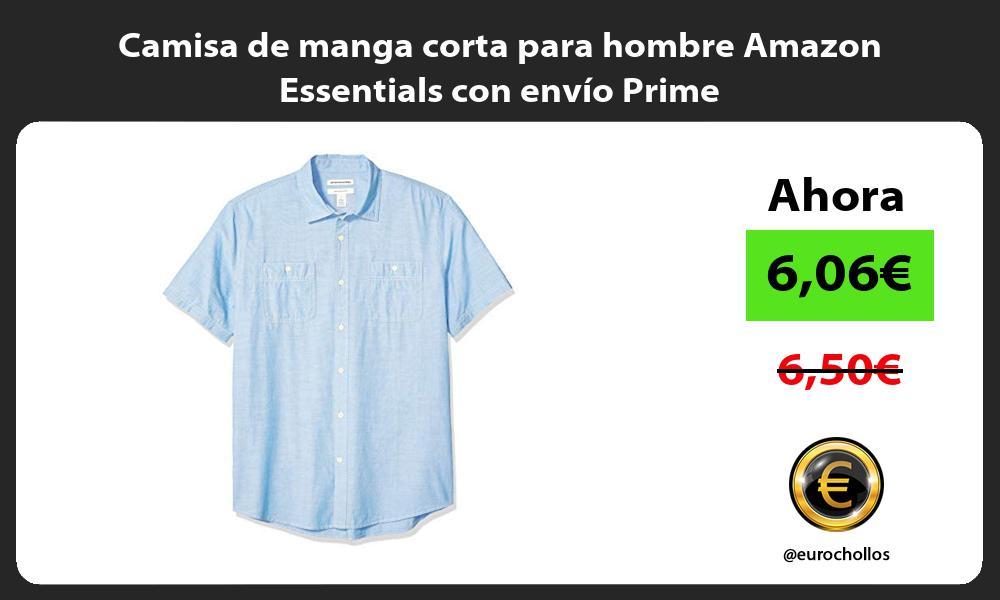 Camisa de manga corta para hombre Amazon Essentials con envío Prime