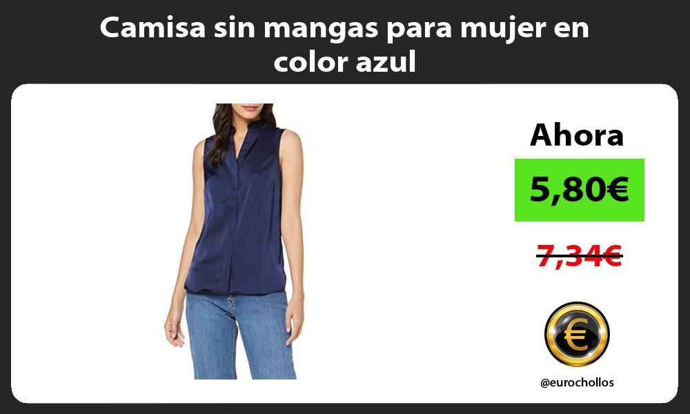 Camisa sin mangas para mujer en color azul
