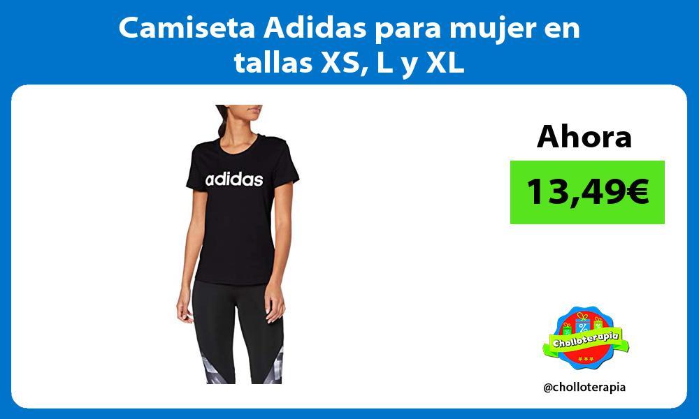 Camiseta Adidas para mujer en tallas XS L y XL