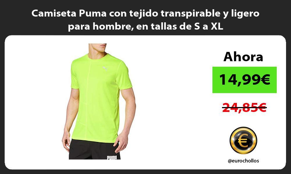 Camiseta Puma con tejido transpirable y ligero para hombre en tallas de S a XL