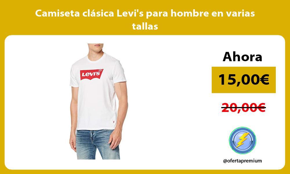 Camiseta clásica Levis para hombre en varias tallas