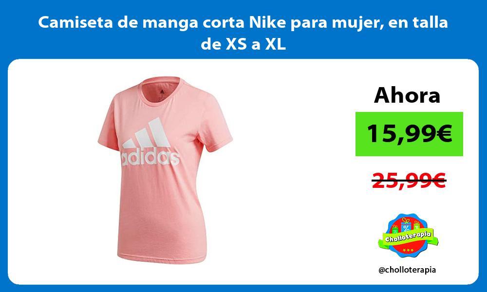 Camiseta de manga corta Nike para mujer en talla de XS a XL