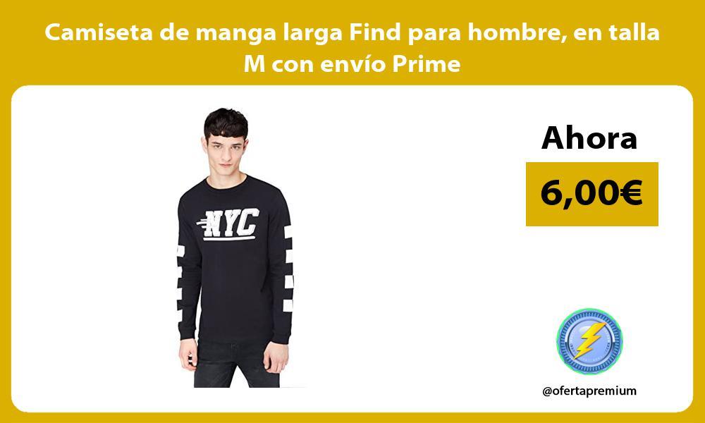 Camiseta de manga larga Find para hombre en talla M con envío Prime