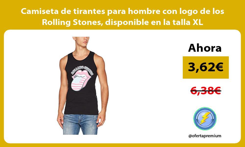 Camiseta de tirantes para hombre con logo de los Rolling Stones disponible en la talla XL