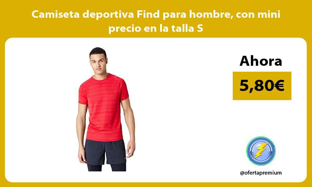 Camiseta deportiva Find para hombre con mini precio en la talla S