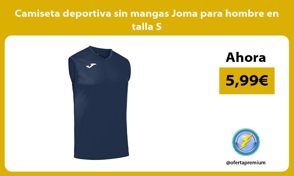 Camiseta deportiva sin mangas Joma para hombre en talla S