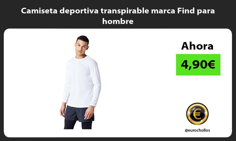 Camiseta deportiva transpirable marca Find para hombre