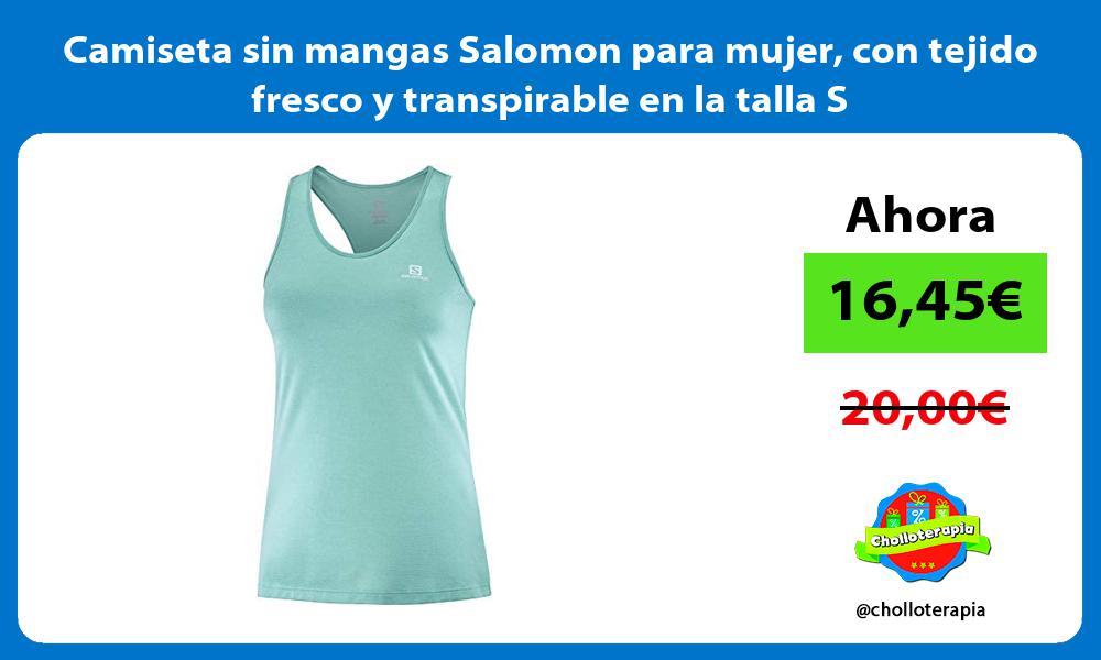 Camiseta sin mangas Salomon para mujer con tejido fresco y transpirable en la talla S