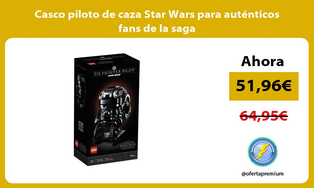 Casco piloto de caza Star Wars para auténticos fans de la saga
